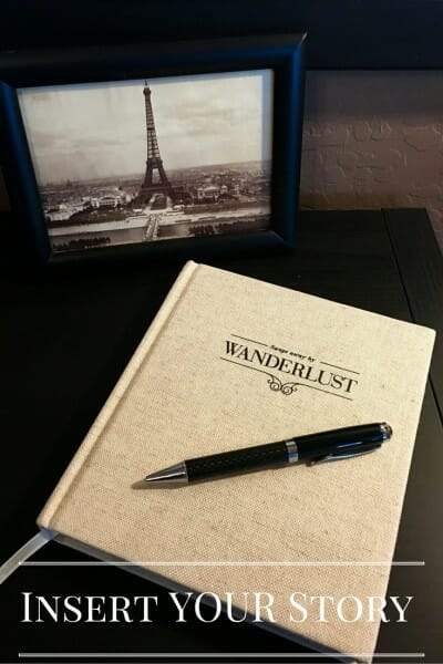 Insert YOUR Story in the Wanderlust journal by Axel & Ash.