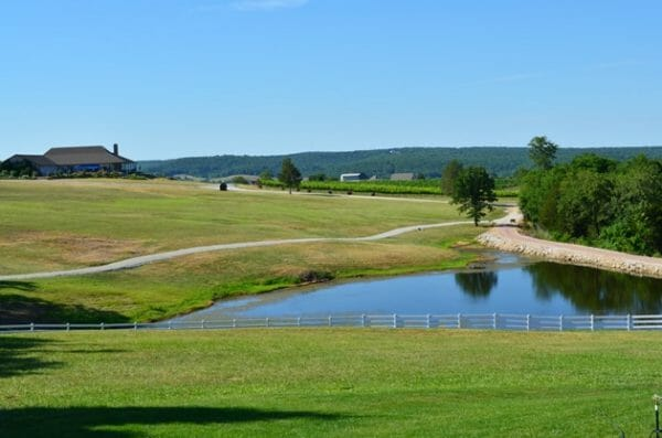 View From Chaumette Vineyards & Winery Barn