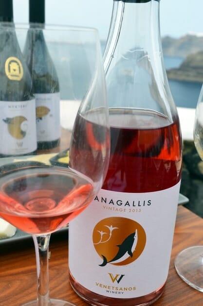 Venetsantos Anagallis Rosé - Santorini Wineries