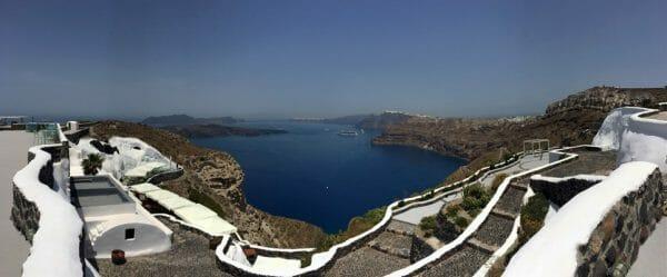 View from Venetsantos Winery in Santorini Santorini Wineries