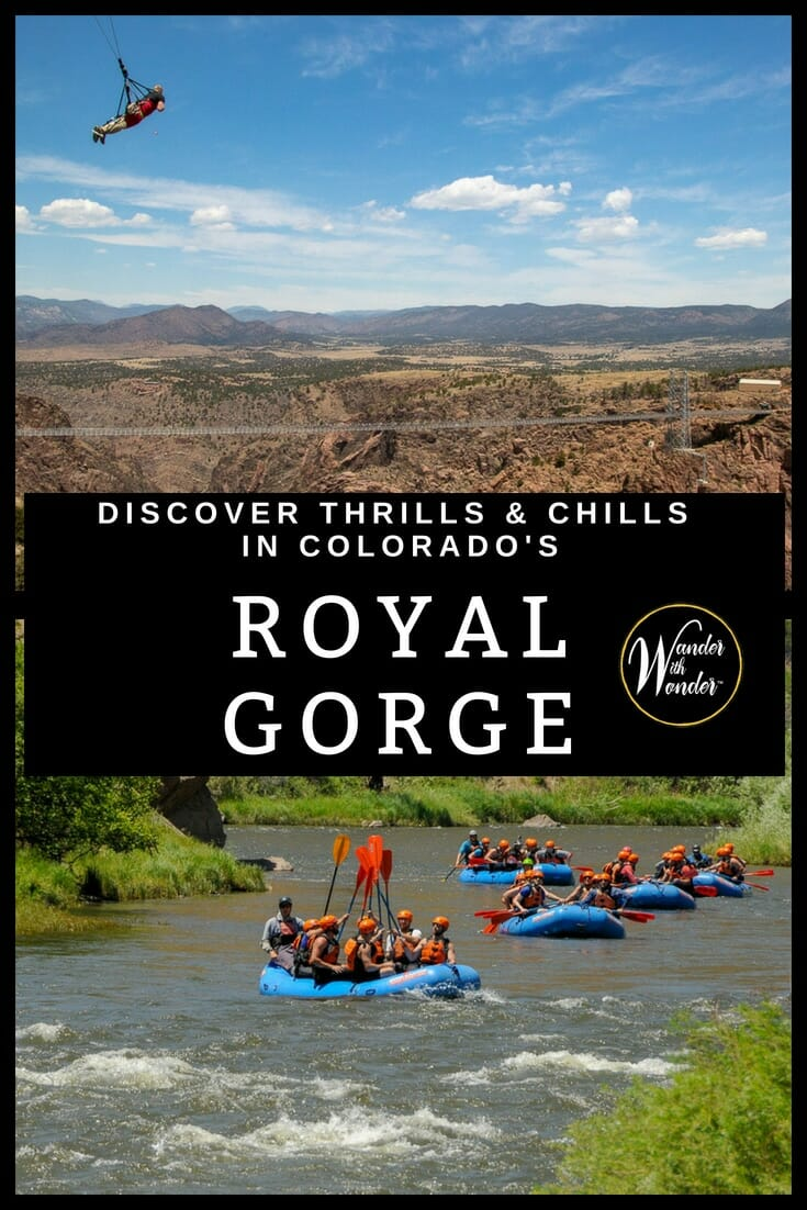 Cañon City makes a perfect base for exploring the Royal Gorge. Venture out by train, gondola, raft, zip line, jeep, and skyrocket to witness breathtaking views. #Colorado #RoyalGorge #zipline #adventure #adventuretravel #rafting