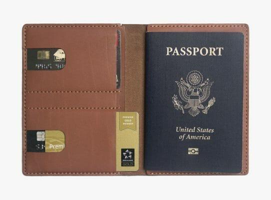 Anson Calder Passport Wallet in Cognac. Photo courtesy Anson Calder