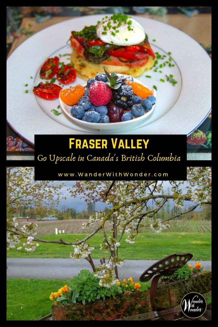The Fraser Valley, Canada's agricultural mecca, is an exciting destination where you can discover delicious cuisine, perfect wines, upscale boutique hotels, and exciting outdoor adventures. #FraserValley #exploreBC #adventure #winetasting #wine #wineries #Canada #BritishColumbia