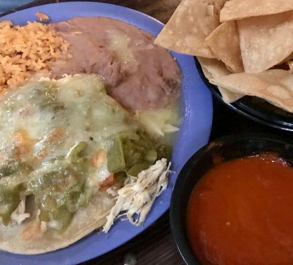 Visit El Paso - Green Chile and Chicken Enchiladas