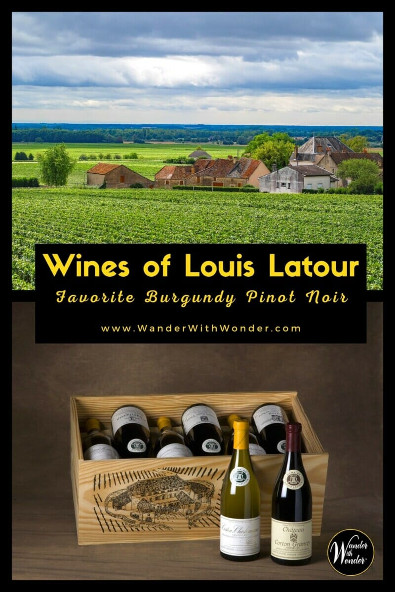 Domaine Louis Latour is one of the few wineries in Burgundy still completely family-owned and operated. The family is from Aloxe-Corton, a small medieval village in the Côte de Beaune. The Latour family has been making wine since the 17th century. These are some of my favorite Pinot Noir wines of Maison Louis Latour.