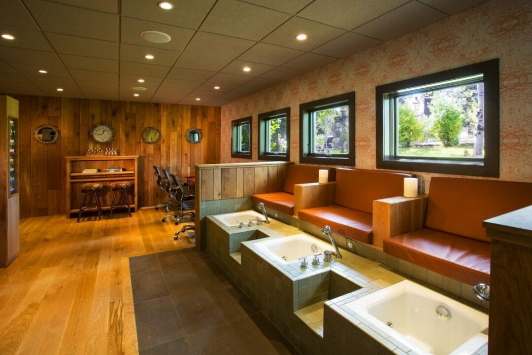 Serene treatment room at The Cove luxury spa in Idaho