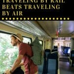 Travel by rail offers a truly magical experience. Not only will you have enough time to catch up on a book or your music, but you also get to stick your head out of the window, smell the clean air, and take in all the beauty. These are our top 7 reasons why train travel beats air travel.