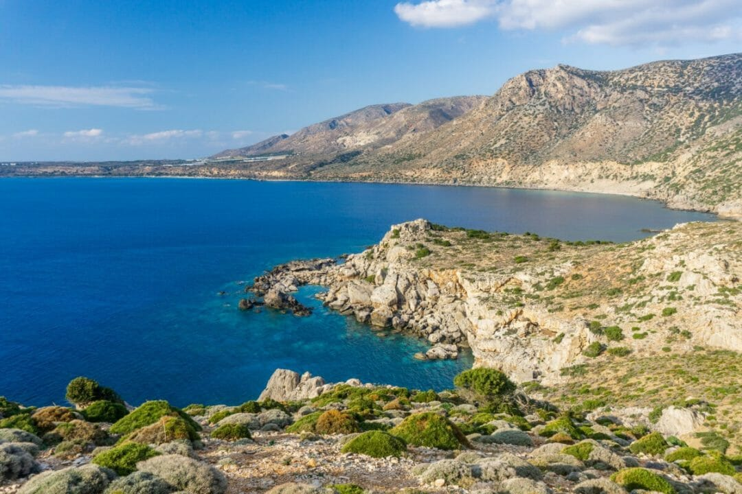 Beautiful view to the bay near Paleochora, Crete. Photo courtesy Adobe Stock images