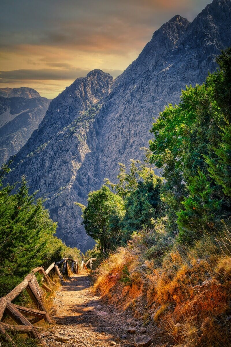 Be sure to explore the paths through Samaria Gorge in Crete. Image by Albrecht Fietz from Pixabay