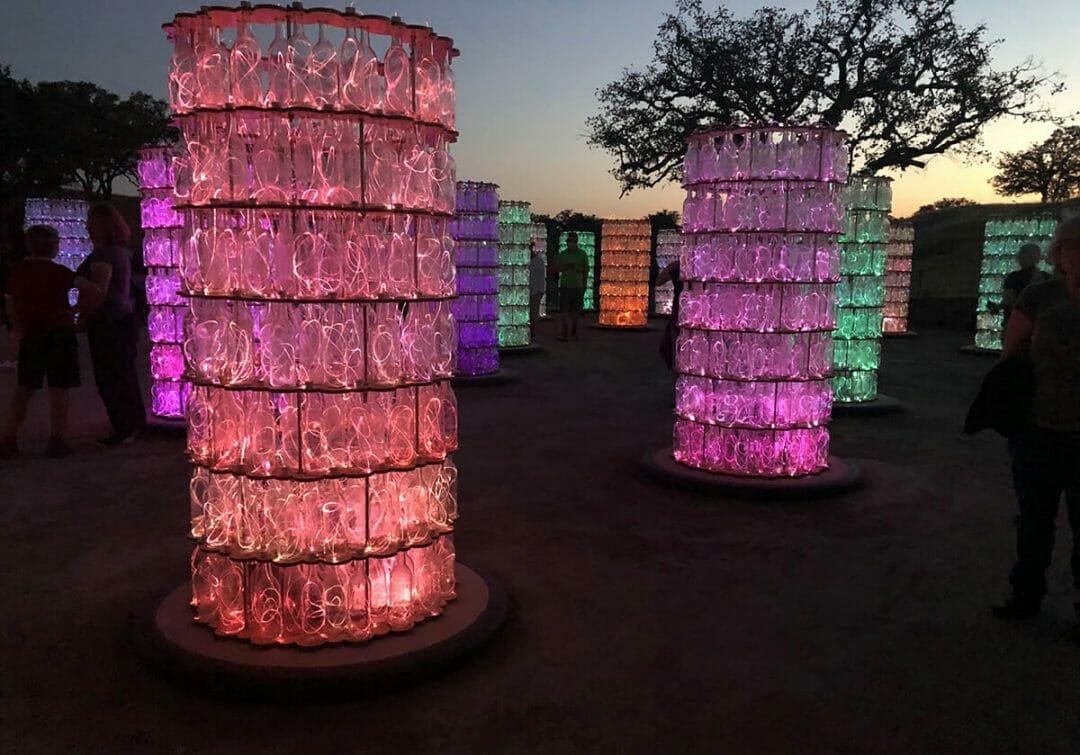 Sensorio Light Towers ©Cori Solomon - art in Paso Robles